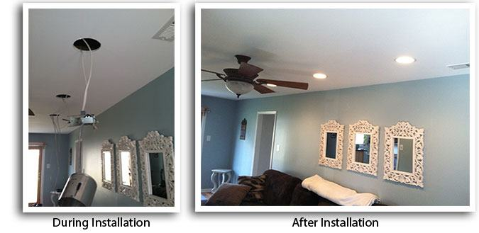 Living Room Recessed Lighting langhorne lighting installation | recessed lights, electrician